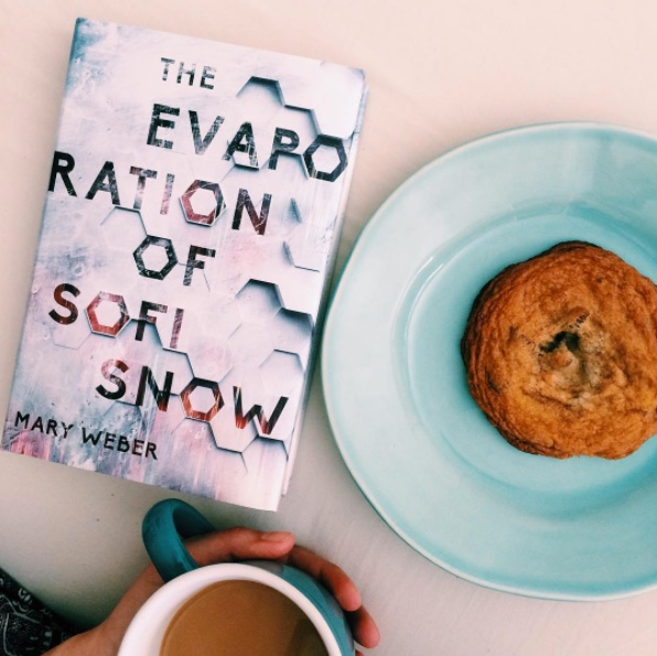 The Evaporation of Sofi Snow now available via Harper Collins available at your local bookstores, and major bookstores like: Barnes and Noble and Amazon to name a few. (Image courtesy of Mary Weber via Instagram)