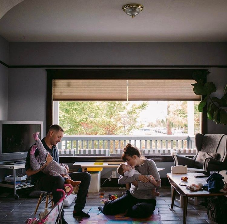Family time in their Tacoma home.  (Image by   Sahara Coleman  courtesy of Elizabeth Rudge)