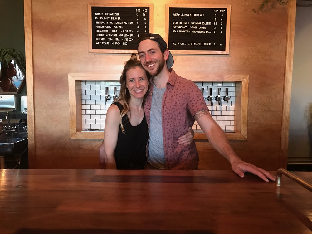 Alicia and Dusty: Founders and owners at State Street Beer Company, Tacoma, WA.  Photo Courtesy of   Alicia Palaniuk