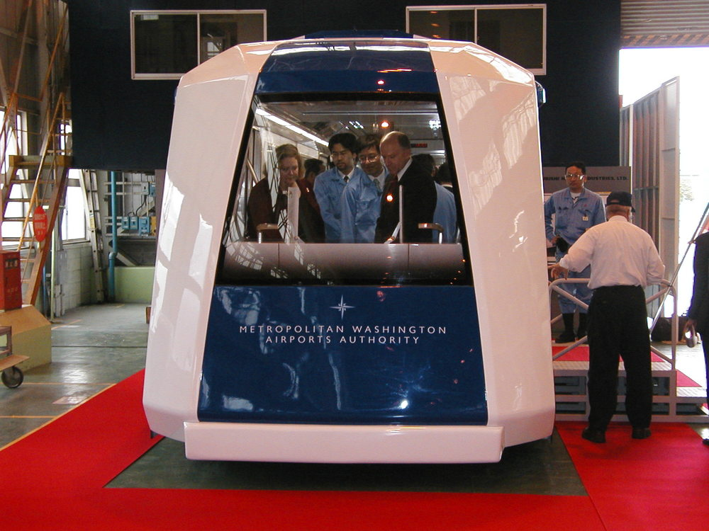 Aero Train Prototype for Dulles APM System in Mihara, Japan