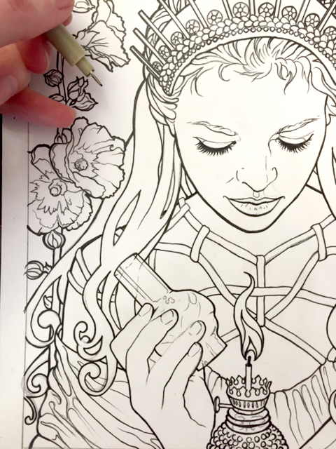 Im Working On Designing A Coloring Book Myself In Somewhat Of An Art Nouveau Style This Has Loooooooong Ways To Go Yet