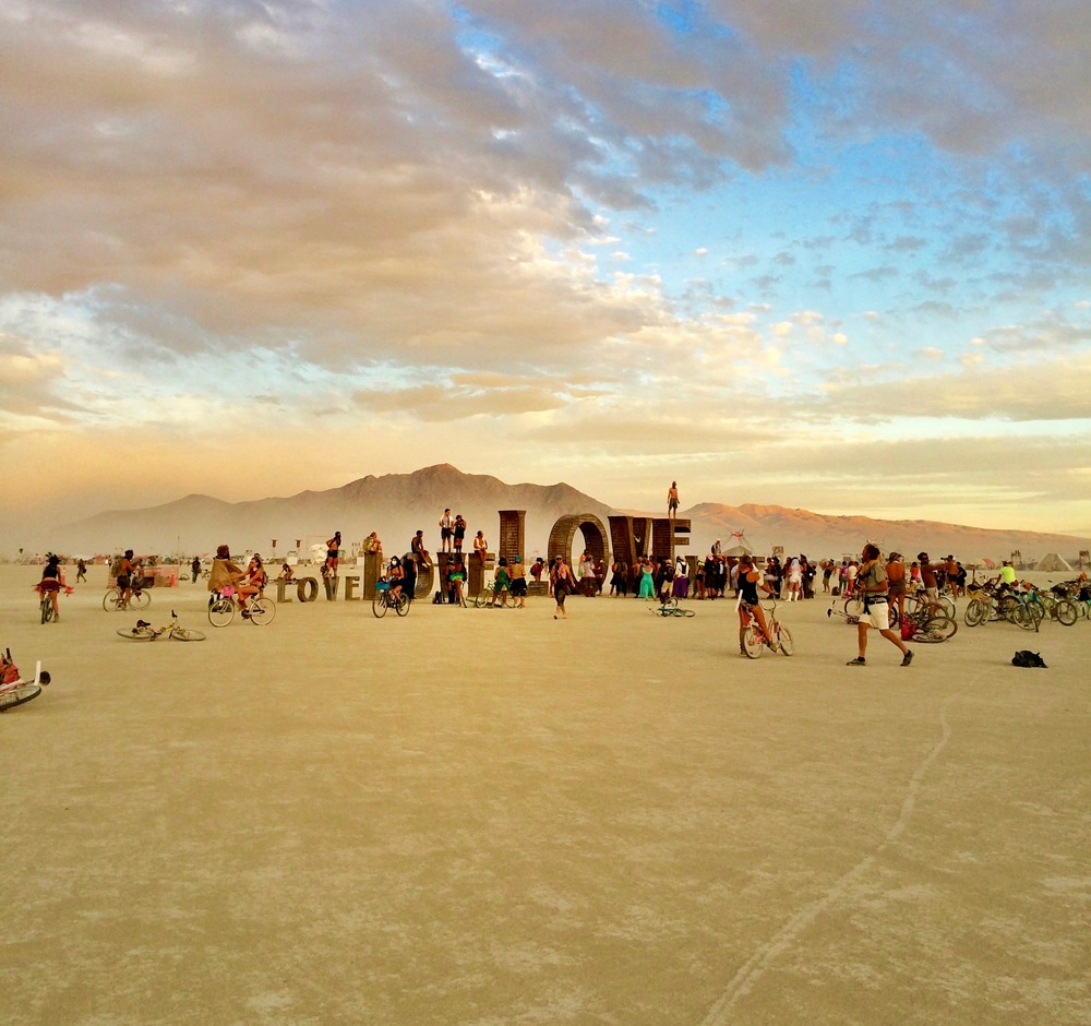 sunset @ burning man, 2014