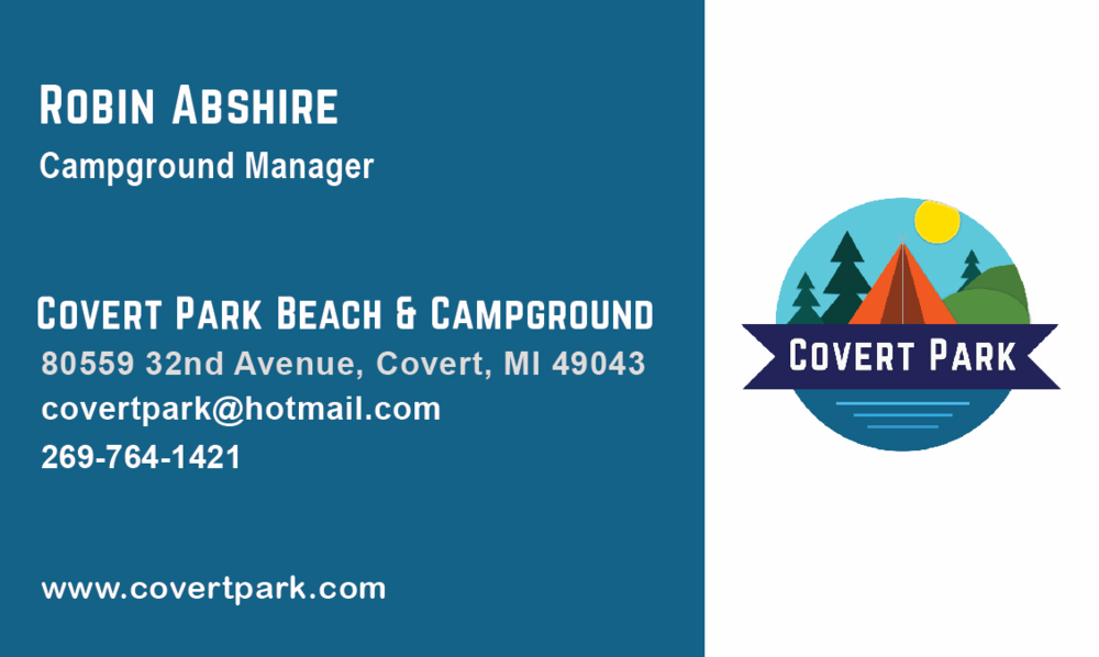 once that was decided i headed into designing their business cards i wanted to keep the cards fun lively and simple to match the logos aesthetic - Campground Manager
