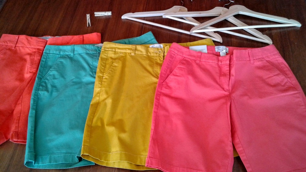 JCrew shorts, $30 each; Size 10, 8, 8, 6