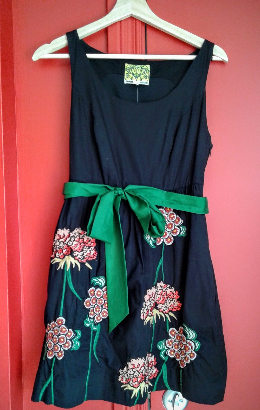 Floreat dress; Size S, $42