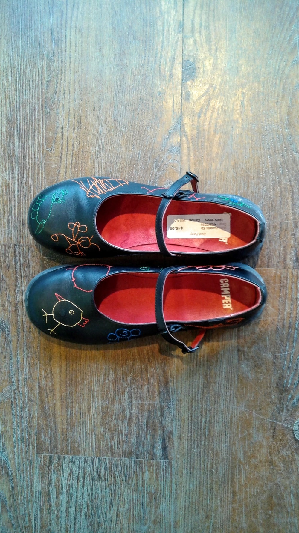Camper shoes, S6.5, $40