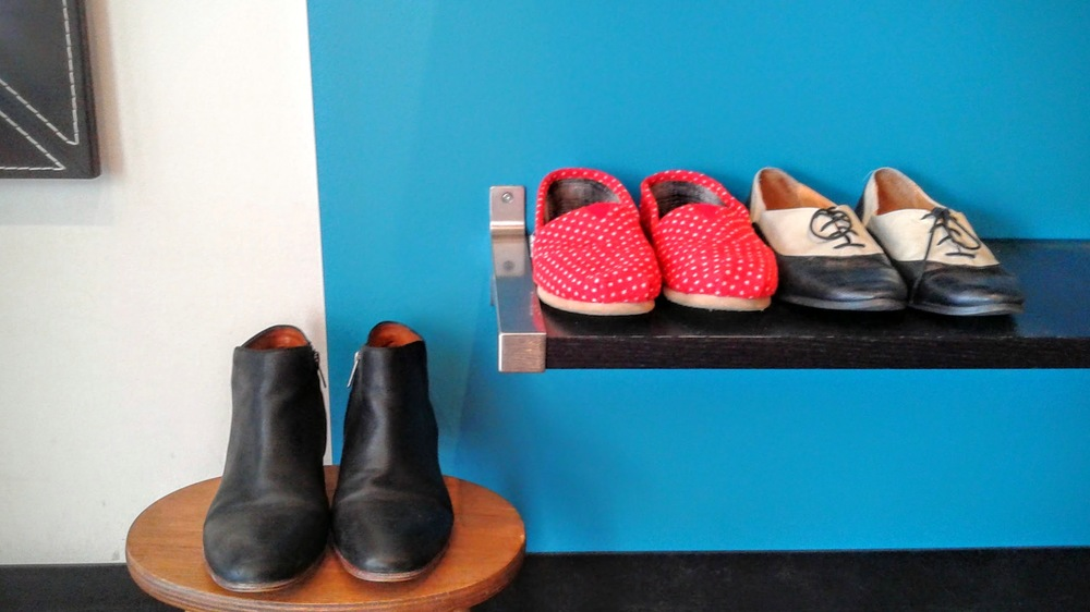 Sam Edelman  booties, S10, $52;  TOMS , S8, $30; Saddle shoes, S6.5, $20