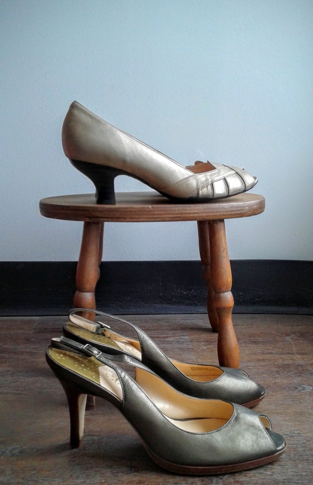 (Top) Clark shoes, S10, $40; (Bottom) Cole Haan shoes, S11, $52