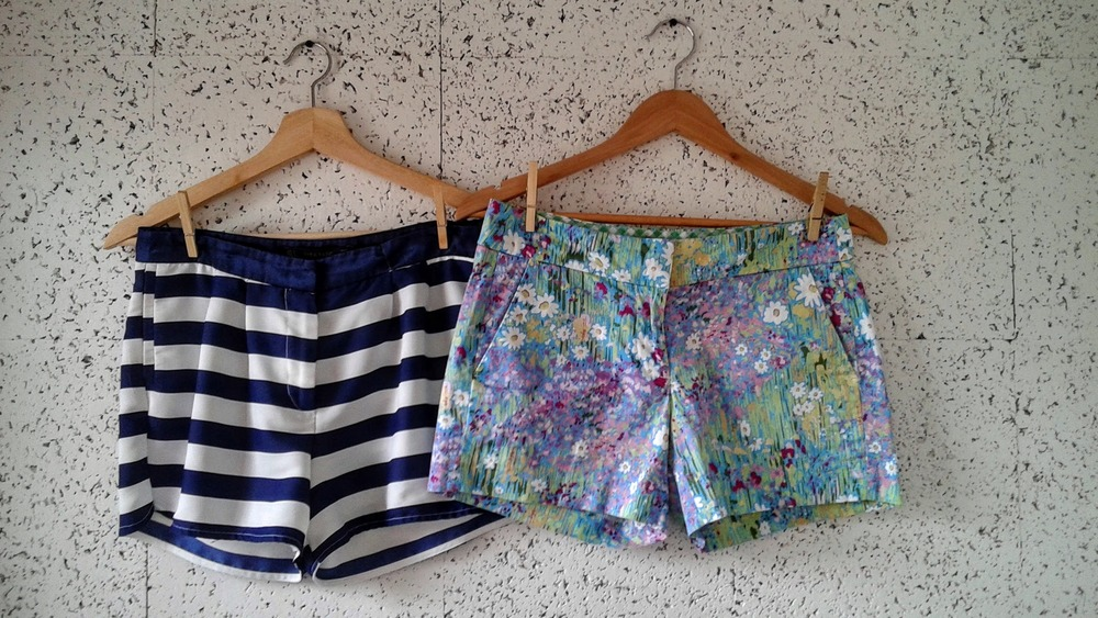 Zara  striped shorts, Size S, $16;  Tommy Hilfiger  floral shorts, Size S, $16