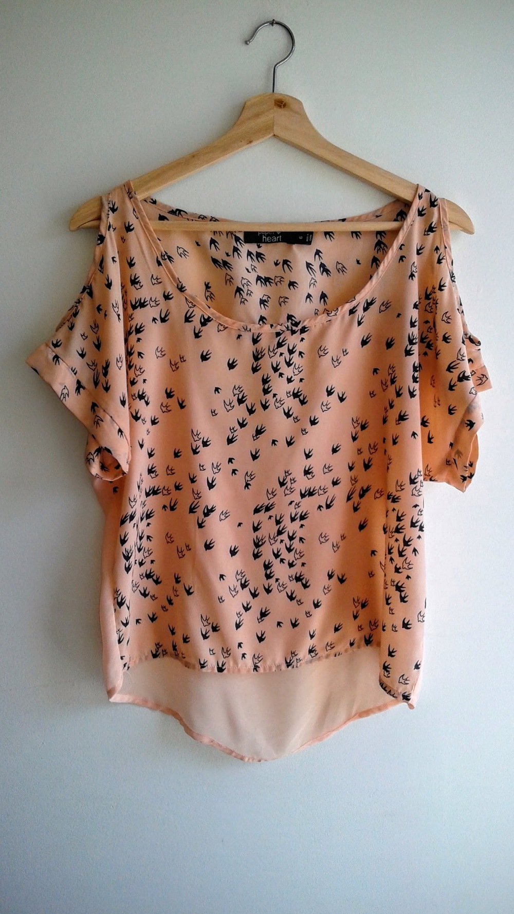 Paper Heart  top; Size 6, $16