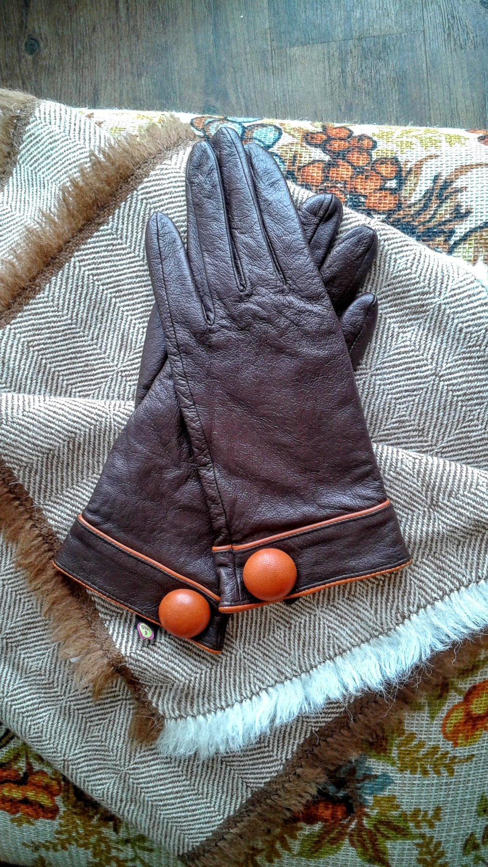 Leather gloves, $22
