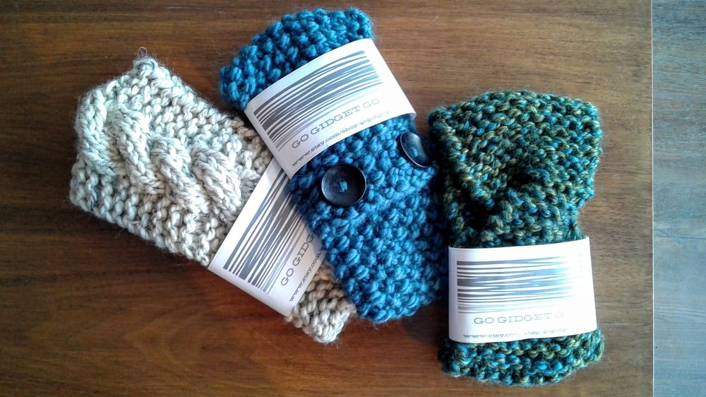GoGidgetGo knit headbands, $20