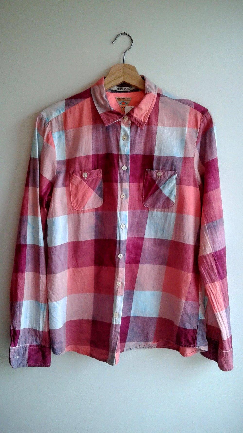 Maison Scotch shirt; Size M, $26