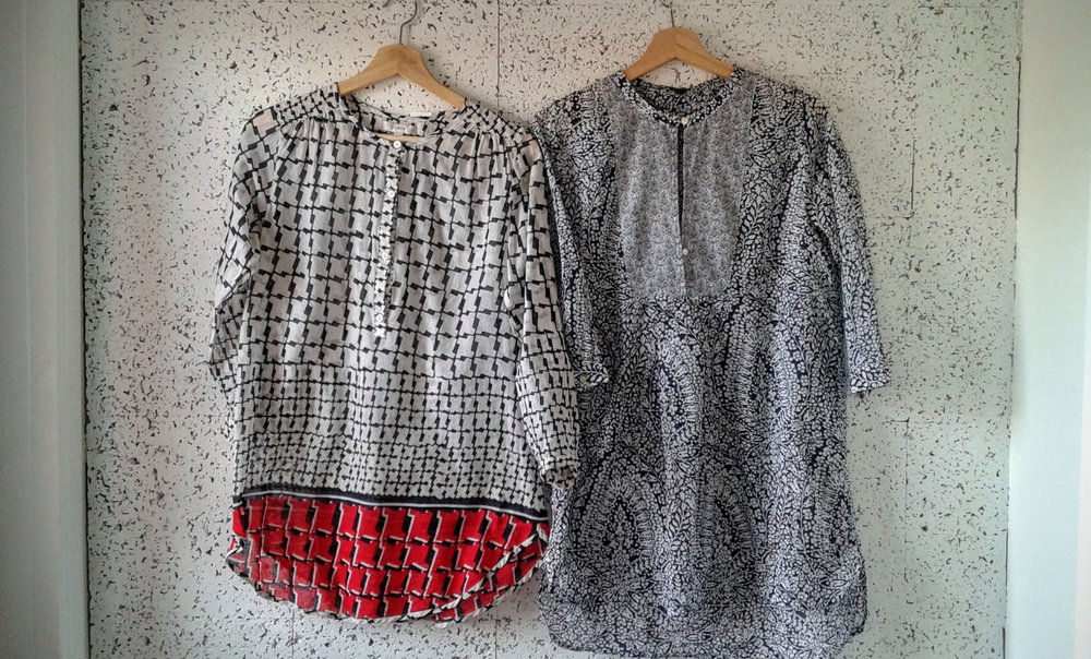 JCrew tunics;each size xs, $28