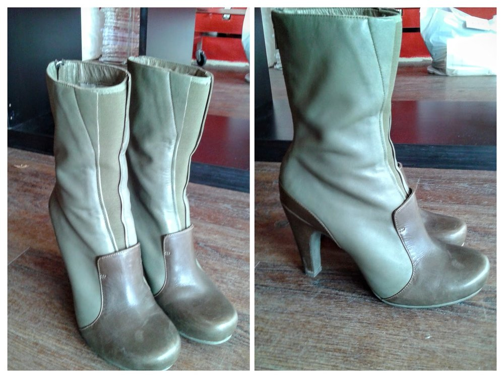 Green Tsubo boots!