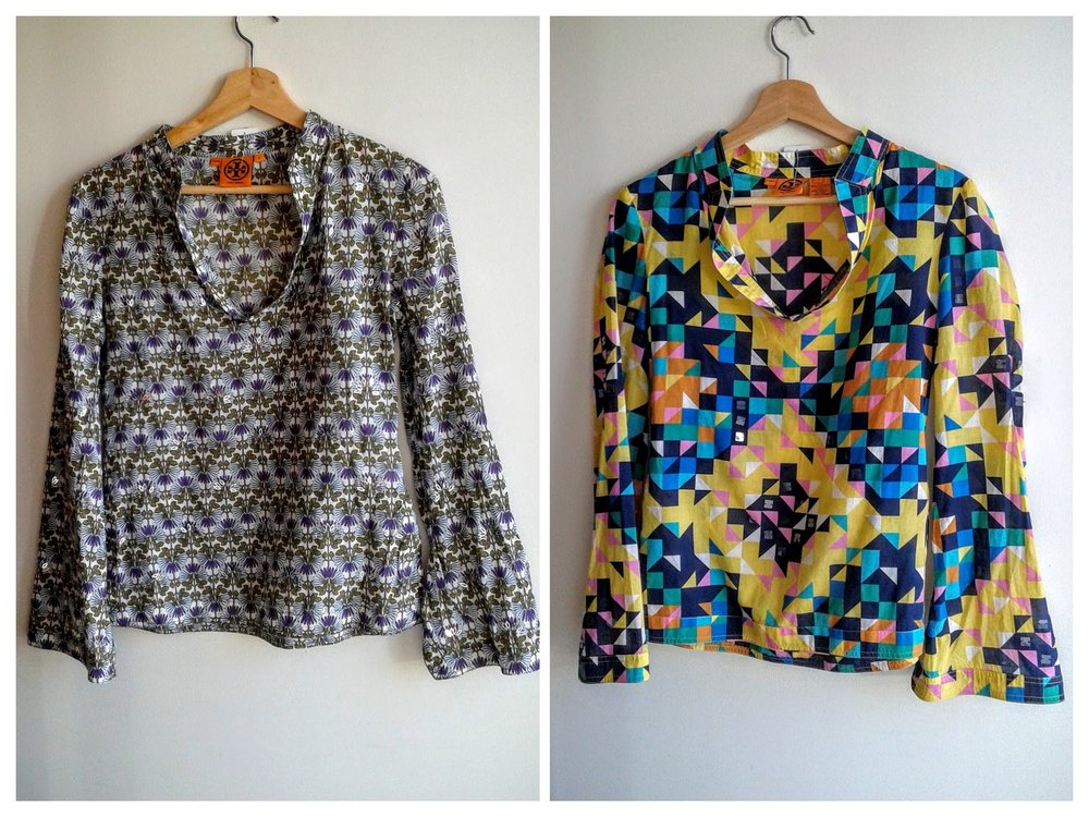Tory Burch tops; Each size S, $42