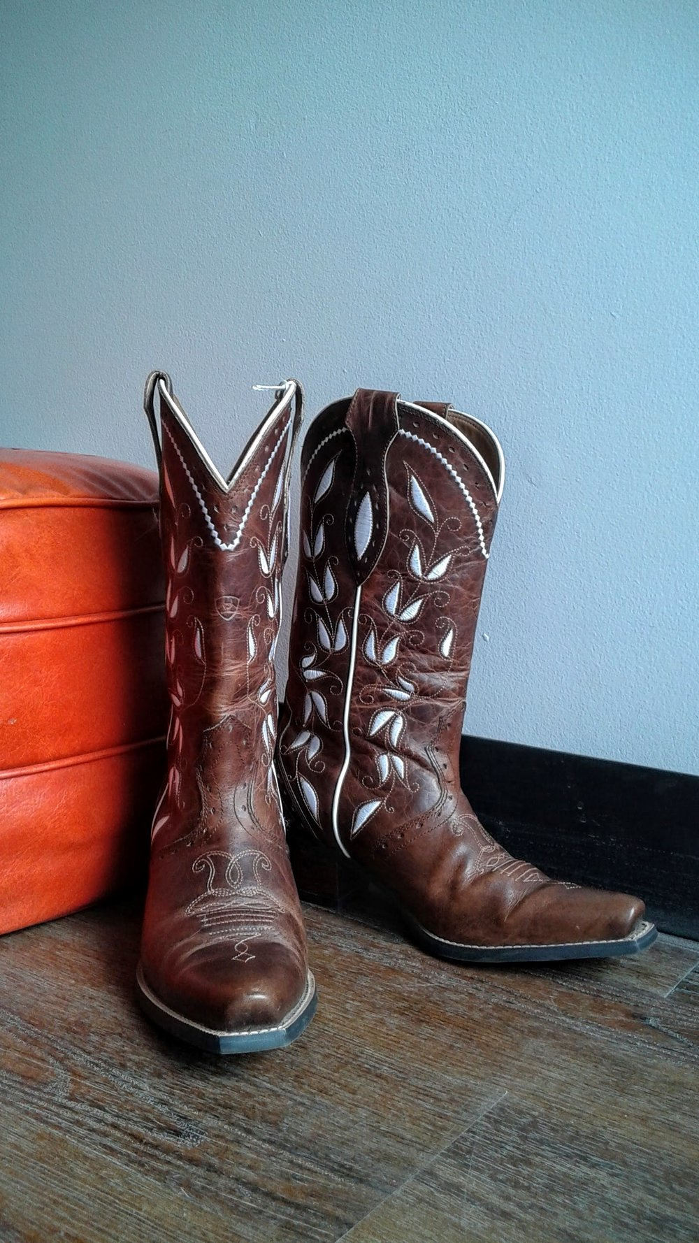 Ariat boots; S7.5, $125