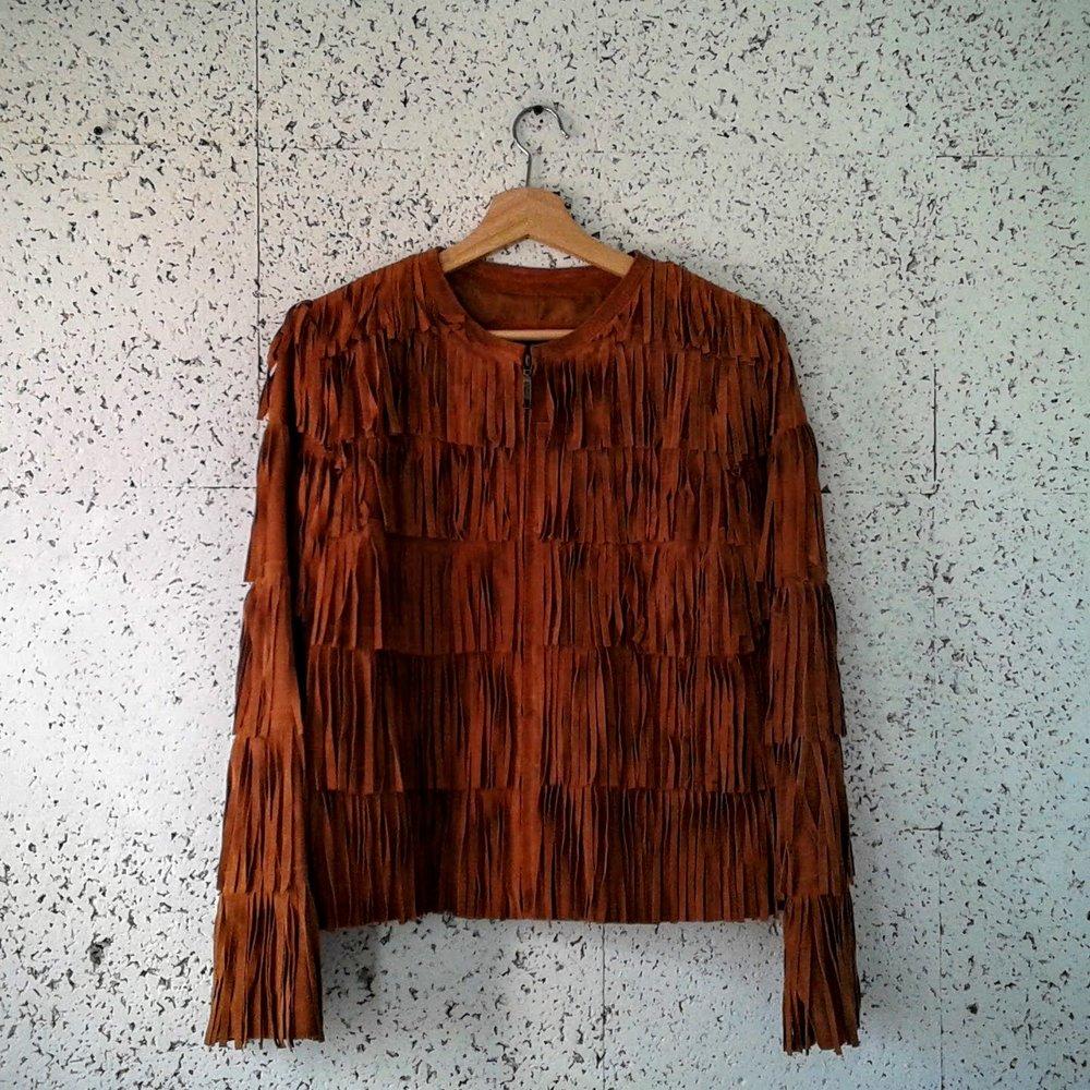 Propser&Devine suede coat; Size M, $58