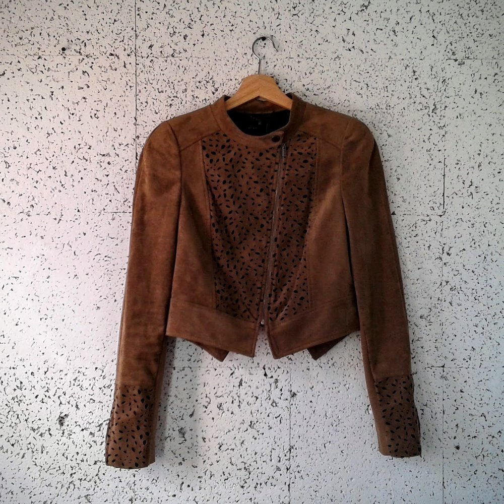 BCBG suede jacket; Size S, $40