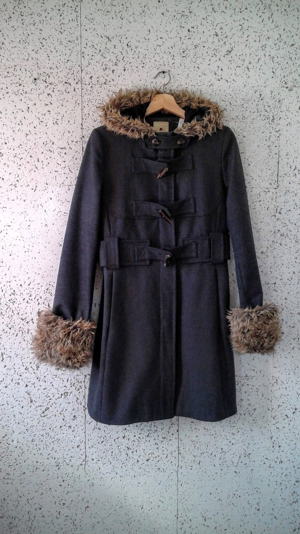 Elevenses coat; Size M, $68