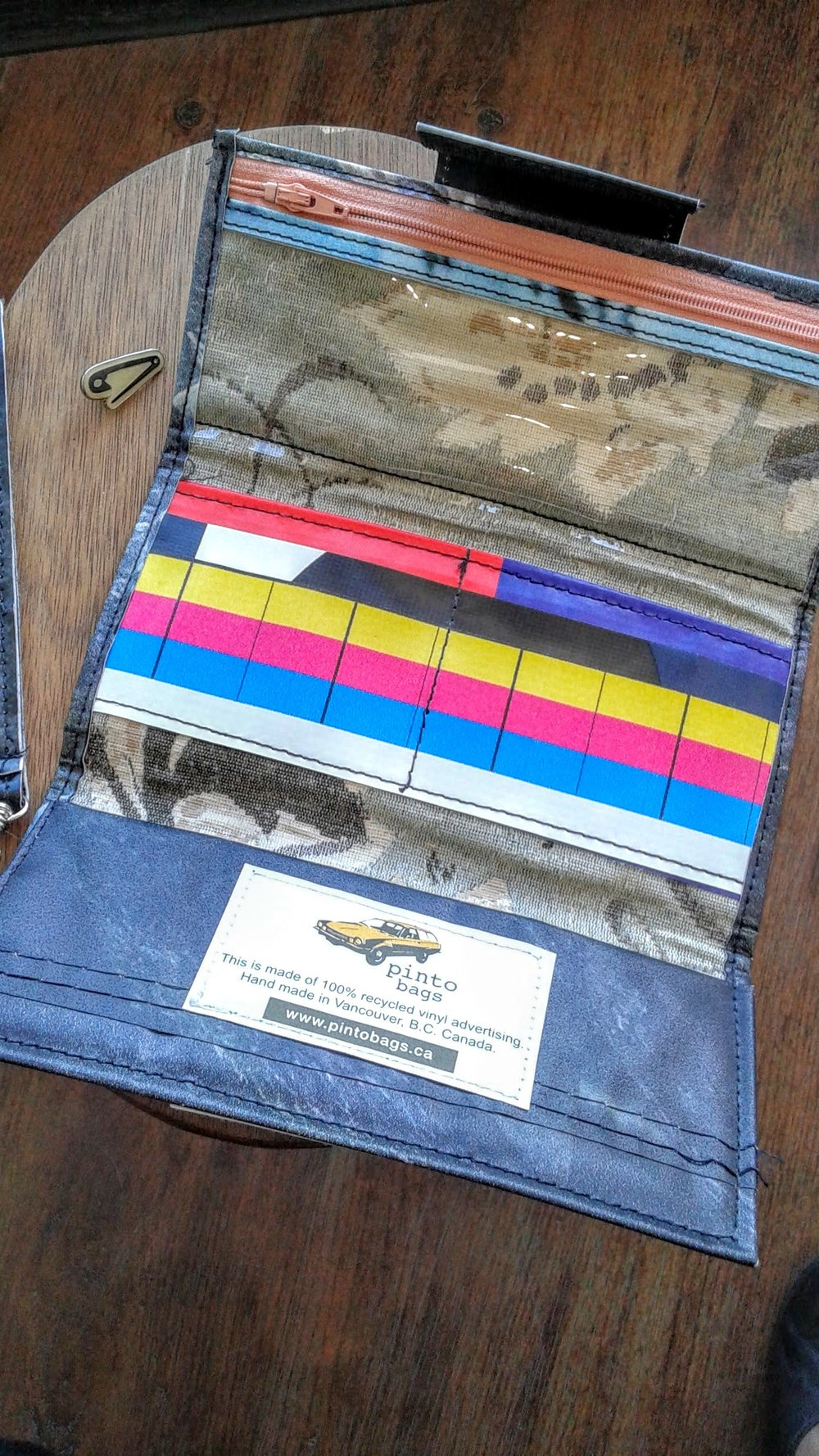 Inside the Pinto Bag wallet