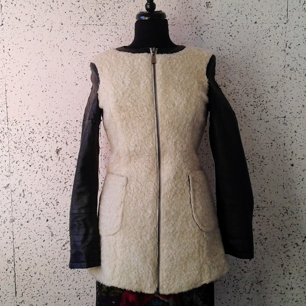 Osley coat; Size S, $42