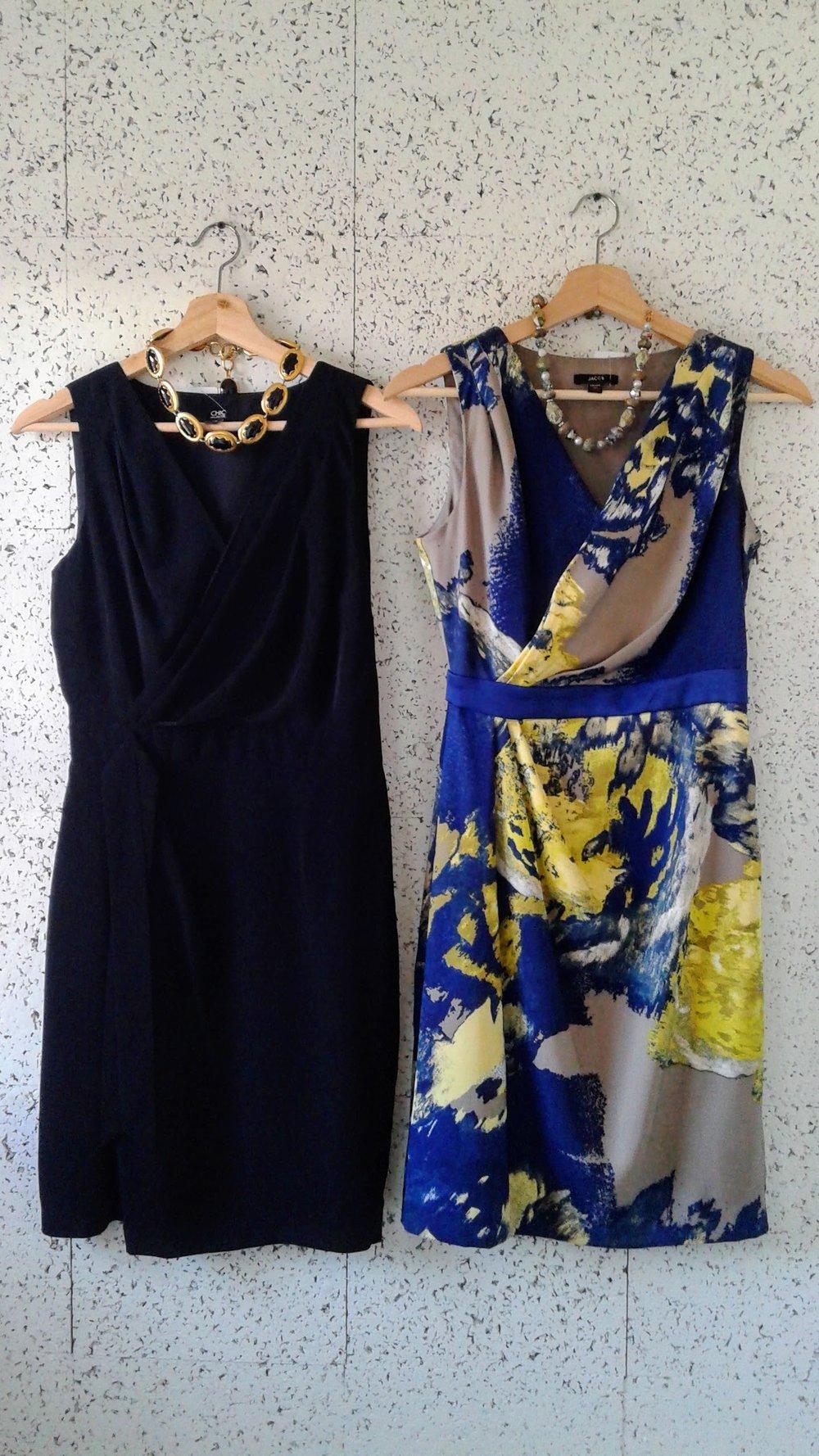 Black Jacob dress; Size S, $28. Blue Jacob dress; Size XS, $32