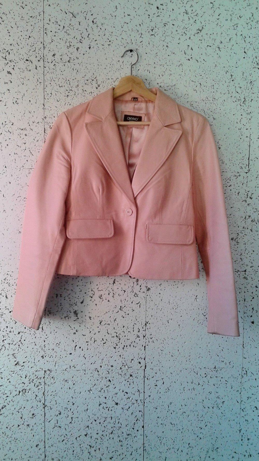 Leather blazer; Size S, $52