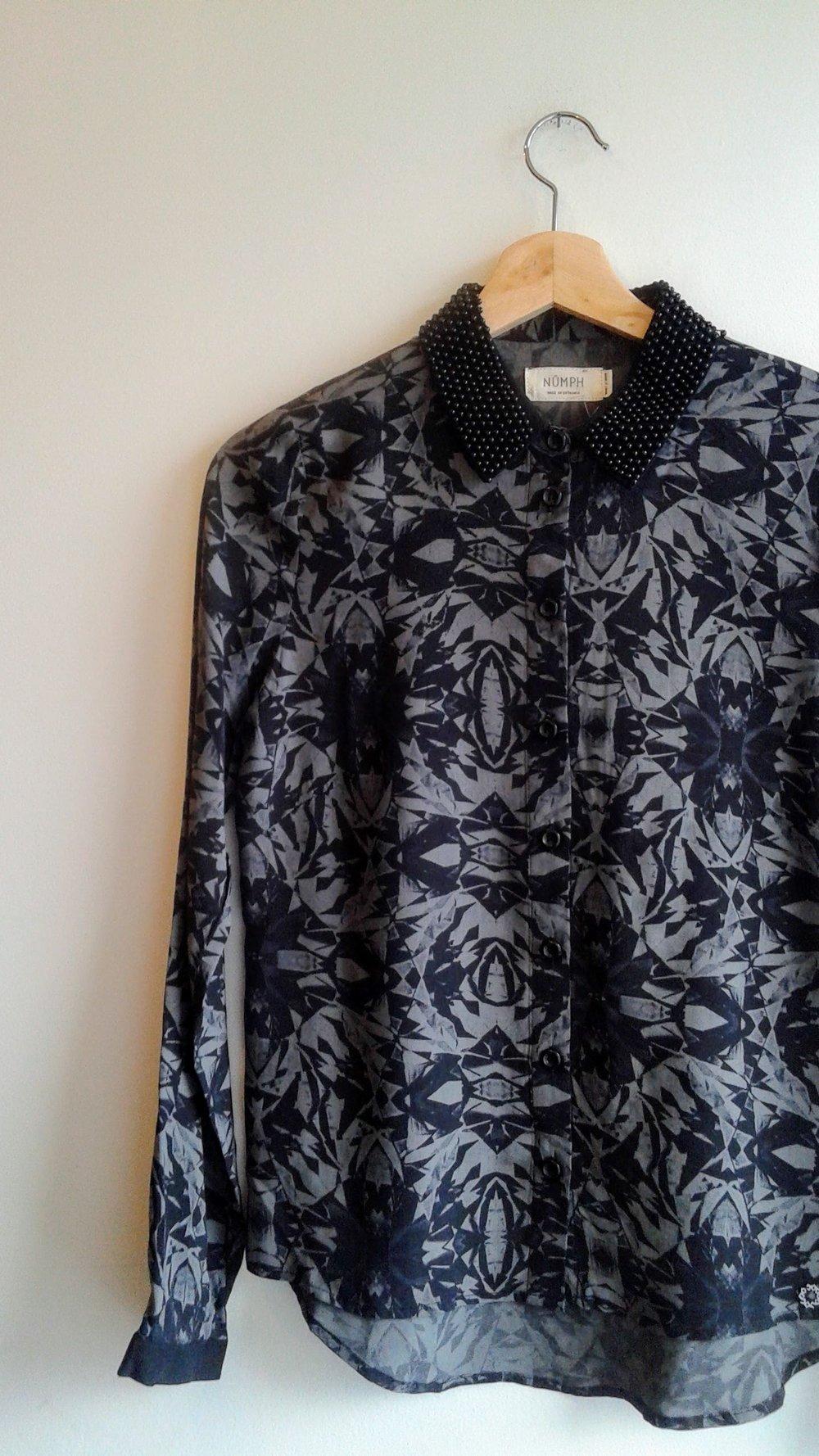 Numph shirt; Size S, $26