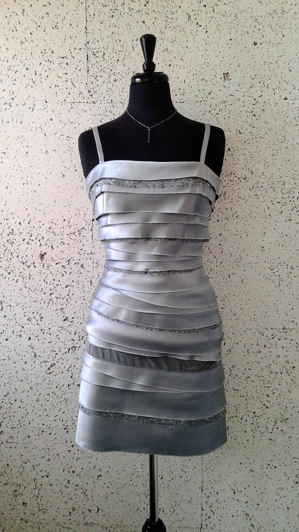 BCBG Max Azria  dress; Size 4, $54. Necklace, $12