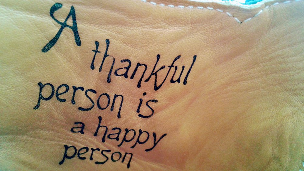 Inside the Jules, A thankful person is a happy person