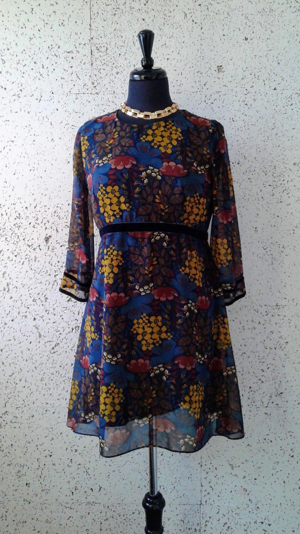 Zara dress; Size M, $32. Necklace $20
