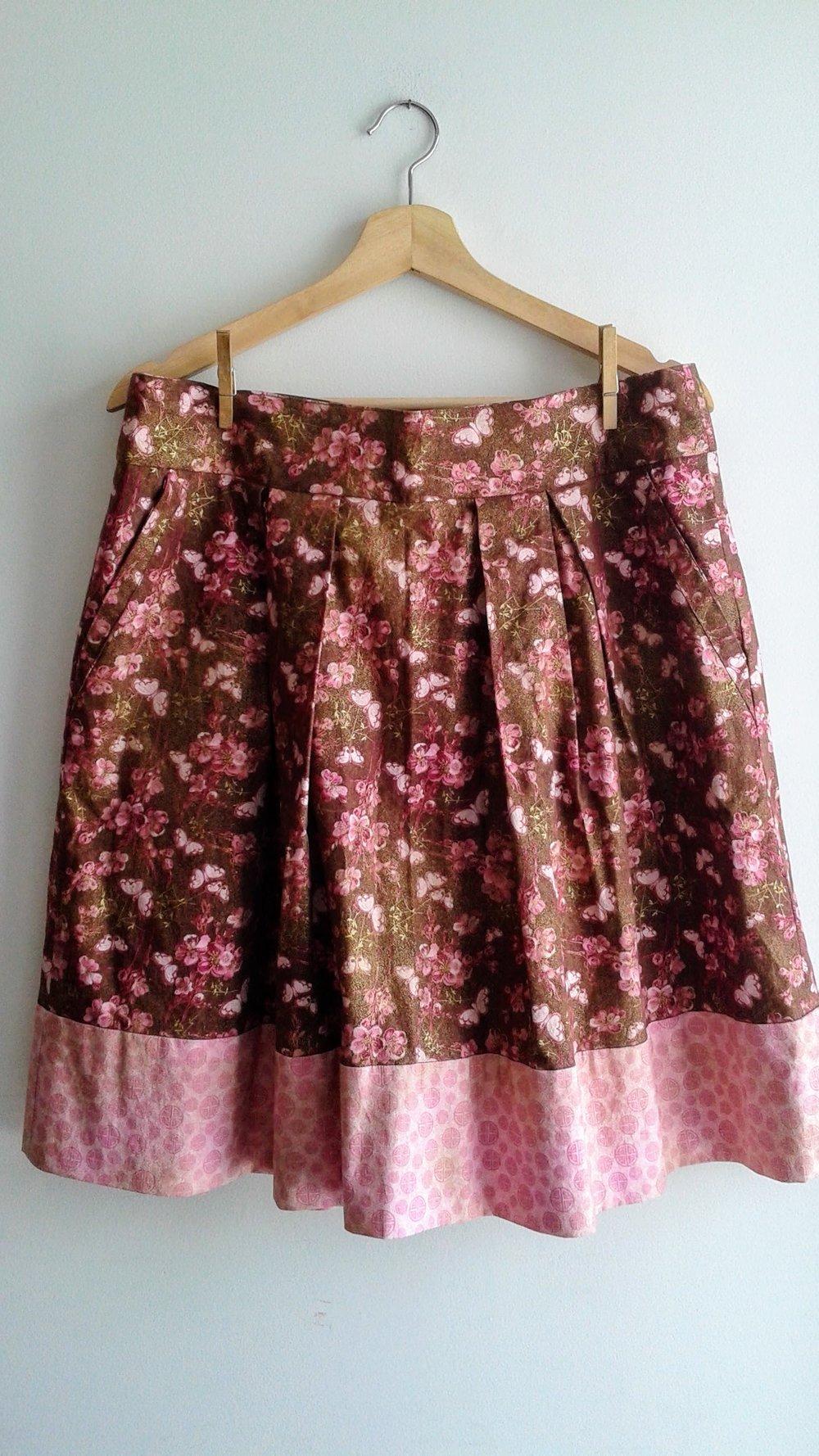 Handmade skirt; Size L, $28