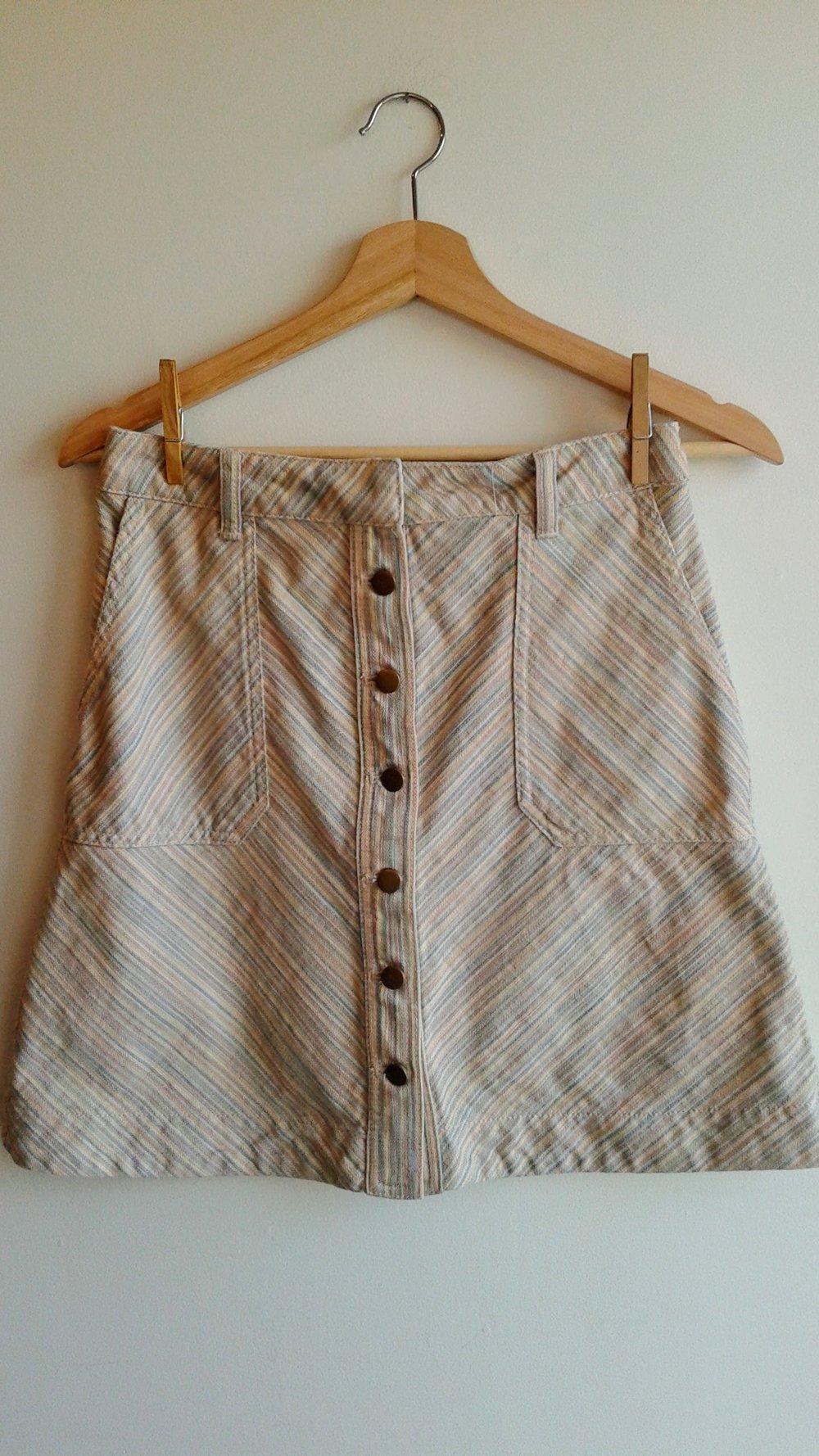 Pilcro skirt; Size 4, $26