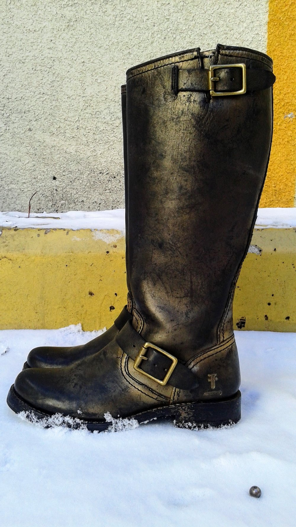 Coach x Frye boots; S7, $95