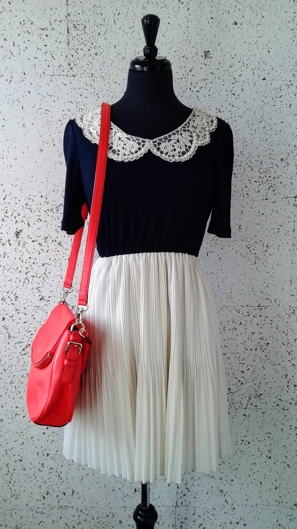 Monteau  dress; Size S, $28.  Kate Spade  purse, $150