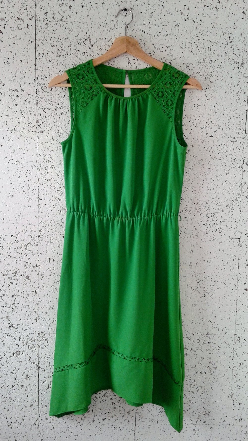 Emerald dress; Size M, $34