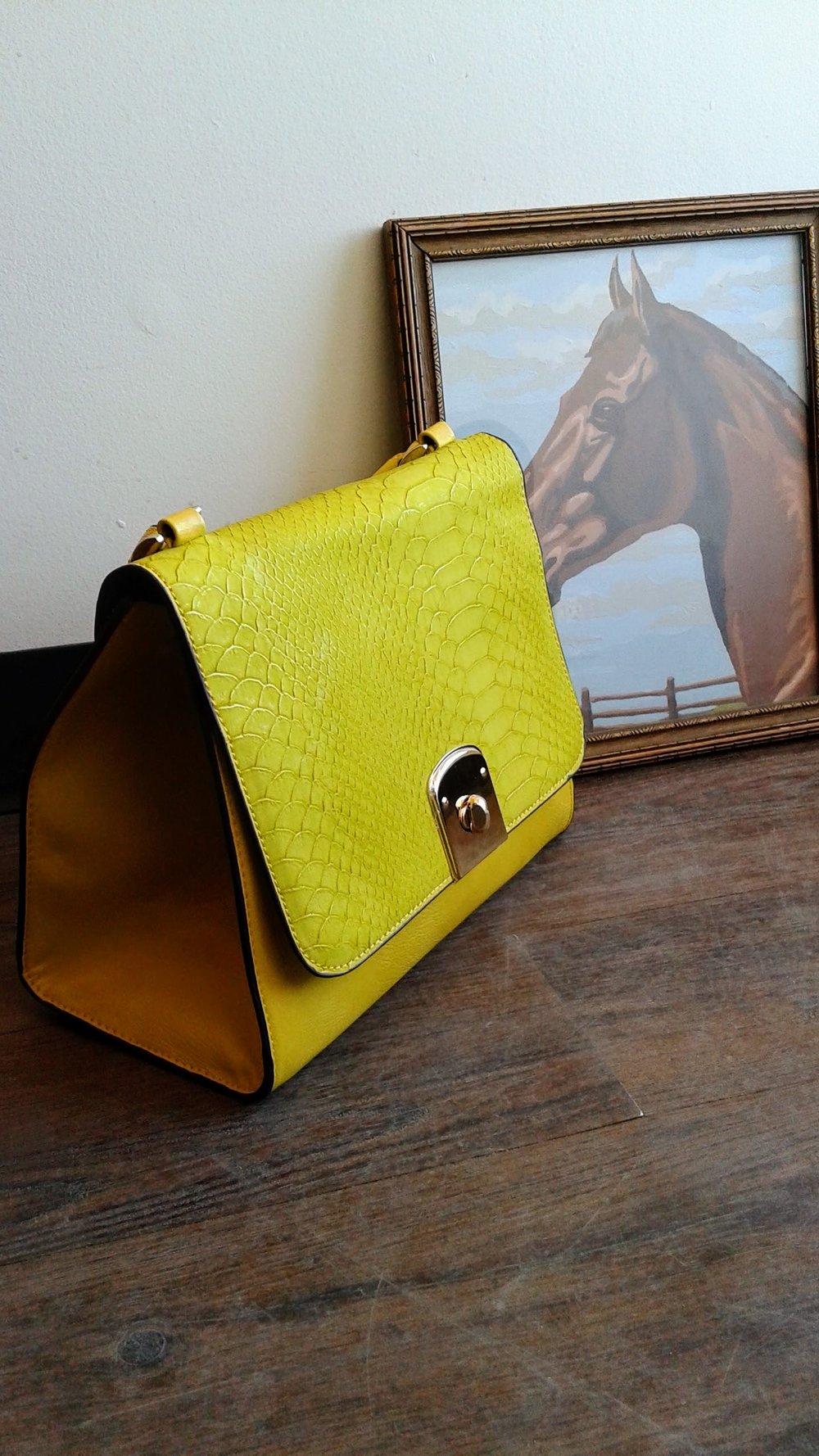 Yellow purse, $28