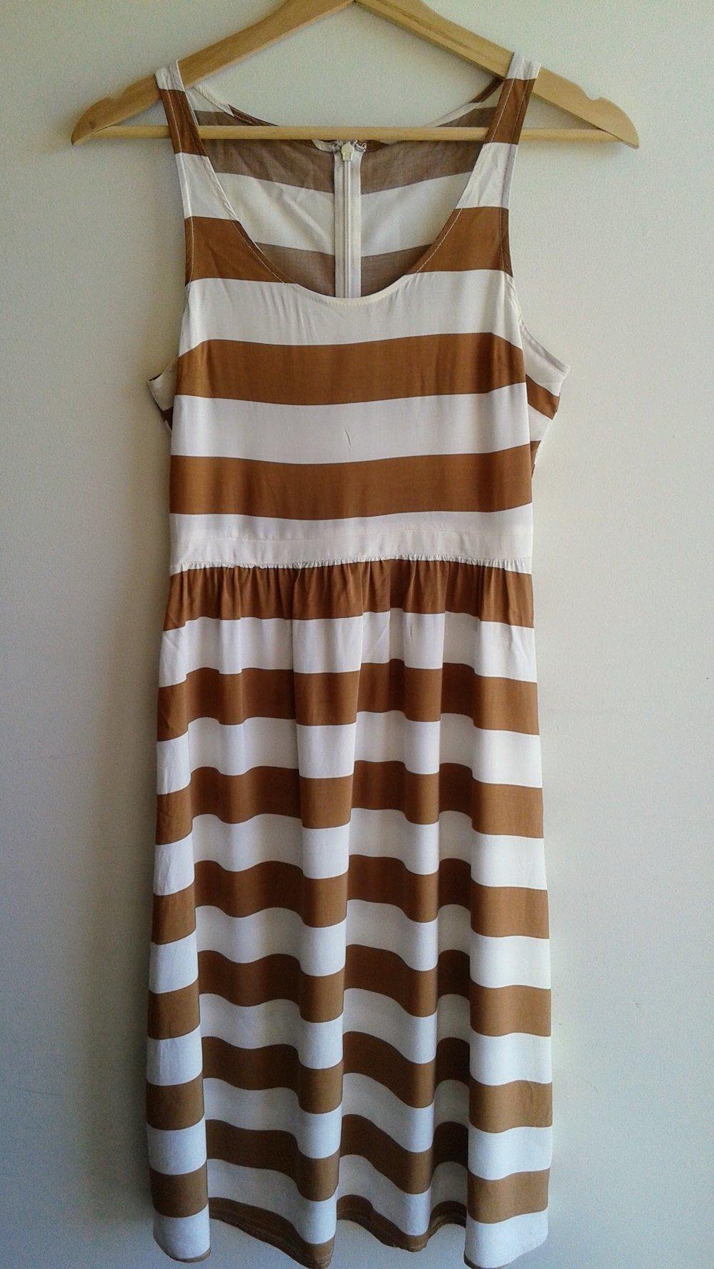 Camel dress; Size S, $28