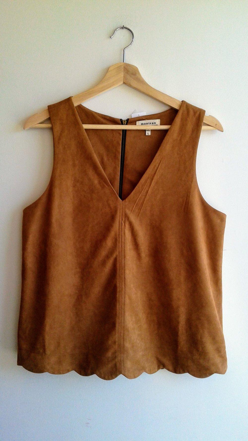 Monteau top; Size L, $22