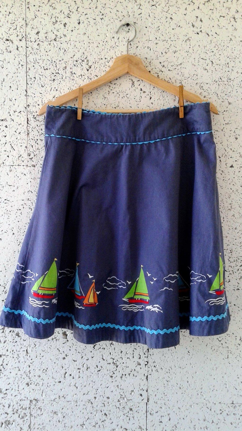 Sail Boat skirt; S10, $26