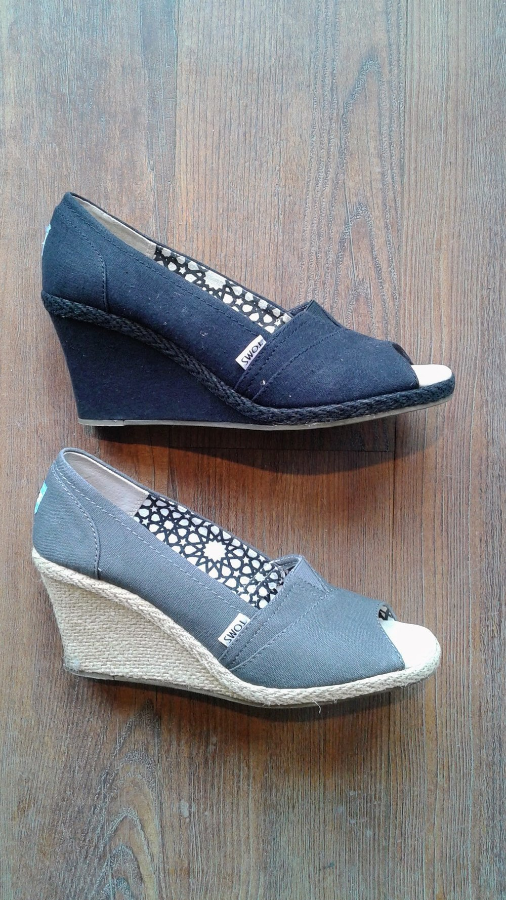 Toms sandals, each; S10, $30