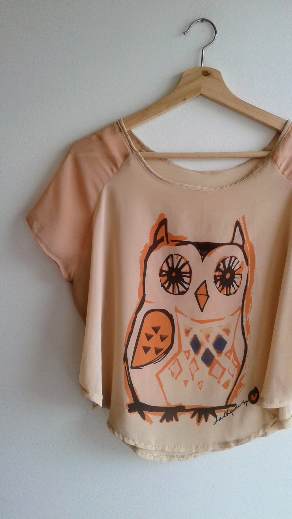 Owl top; Size M, $16