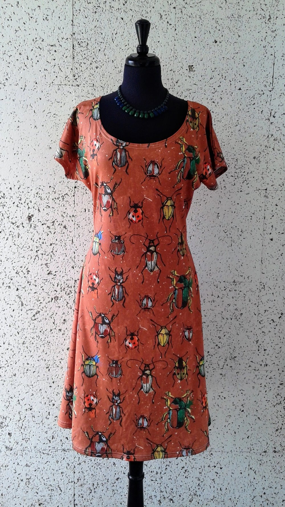 Cowcow dress; Size XL, $42