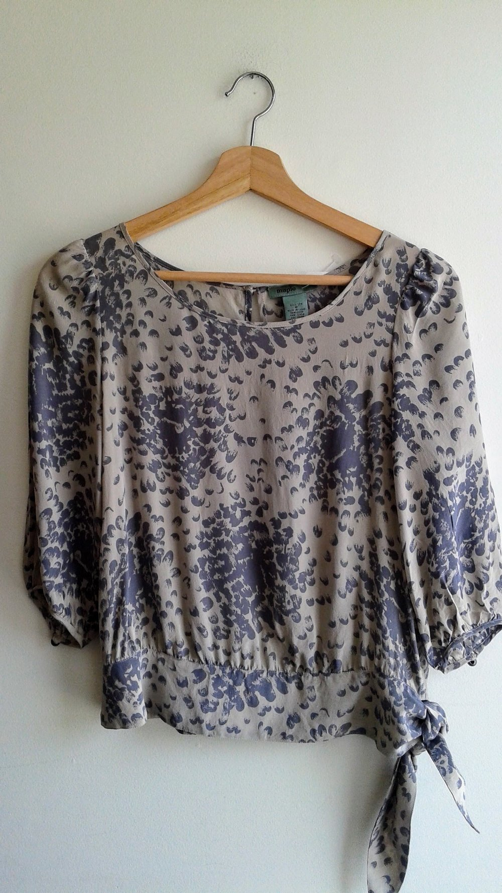 Maple  top; Size S, $28