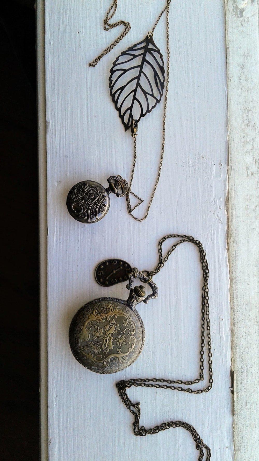 Small pendant, $18; Large pendant, $20