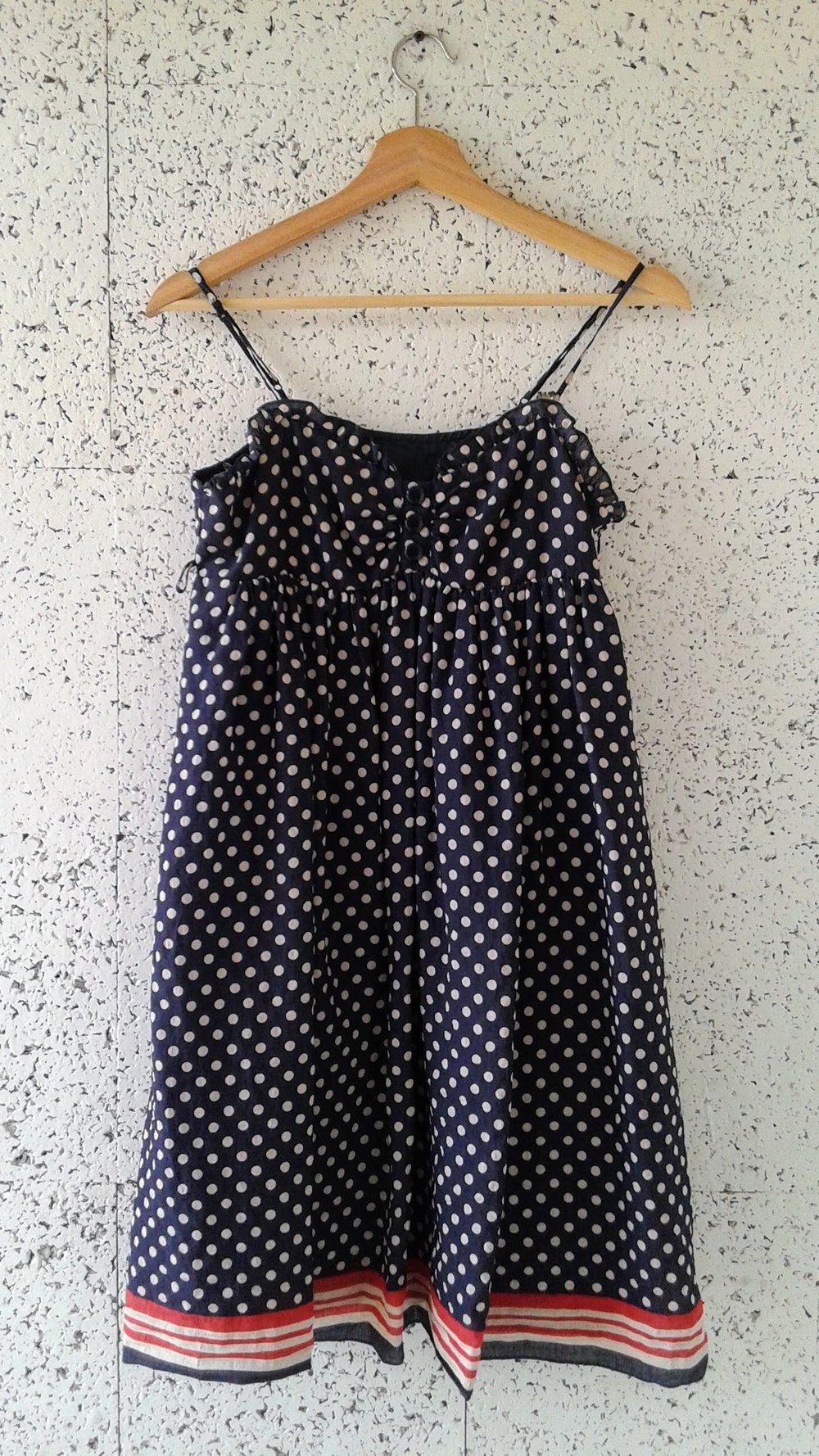 Dot dress; Size M, $24