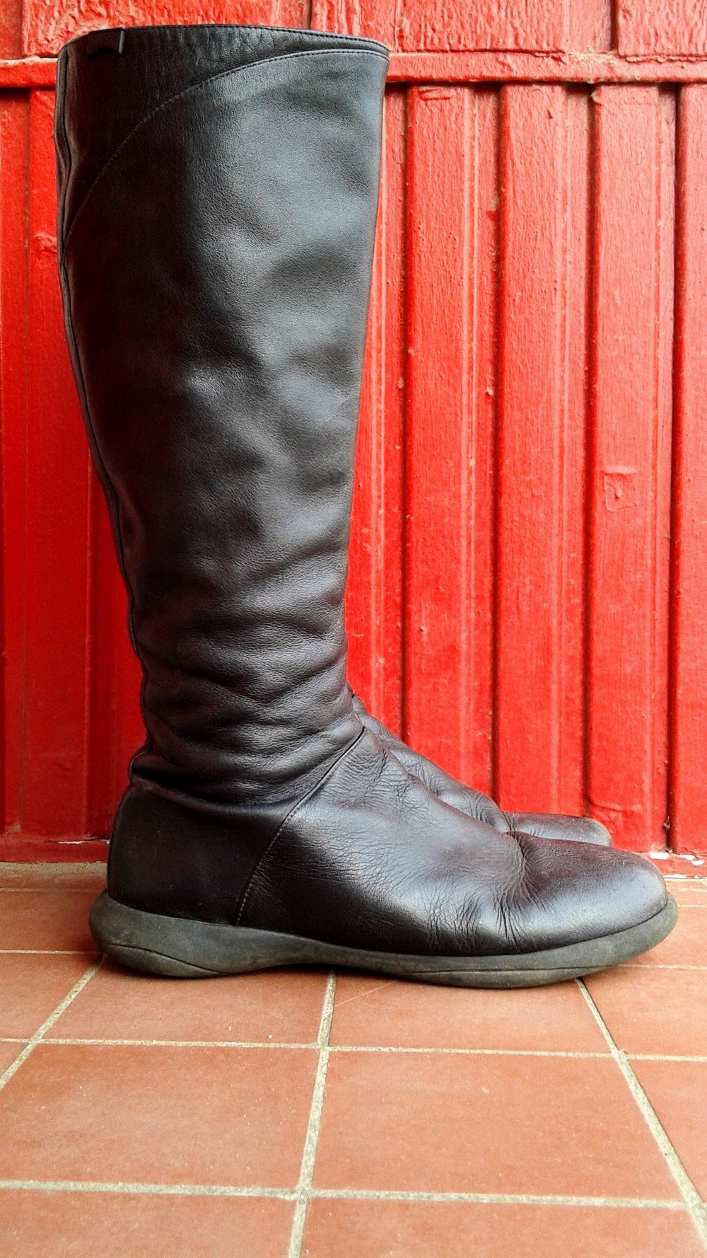Camper boots; S8, $85