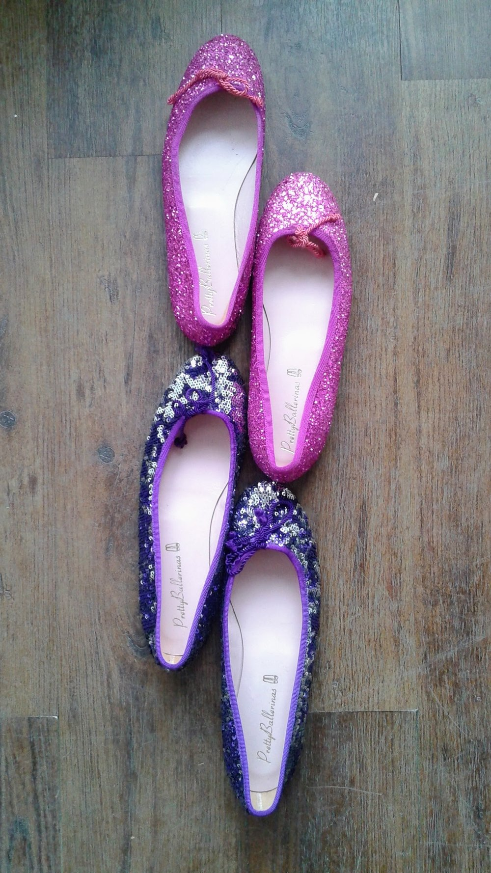 Pretty Ballerinas flats; S8.5, $38 (each)