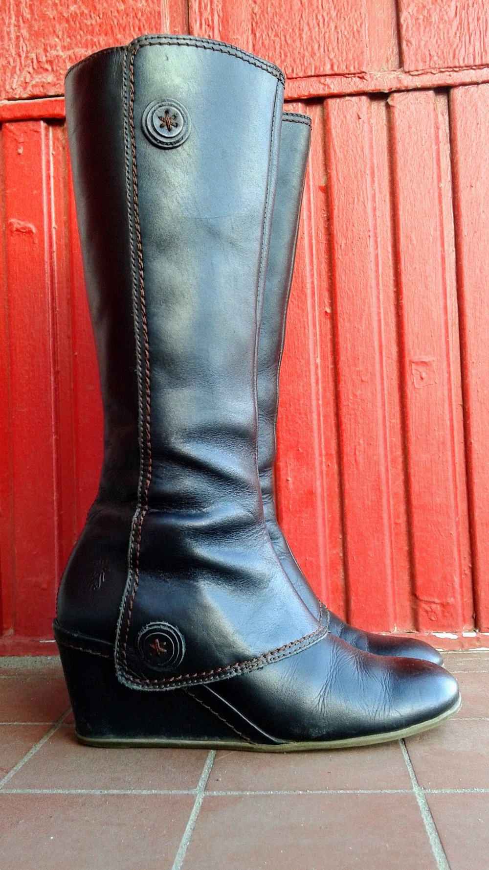 Fly London boots; S6.5, $58